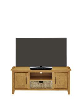 Luxe Collection  London Seagrass Oak Ready Assembled Large Tv Unit  Fits Up To 50 Inch Tv