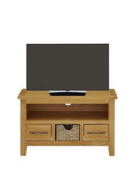 London Seagrass Oak Ready Assembled Small Tv Unit  Fits Up To 40 Inch Tv