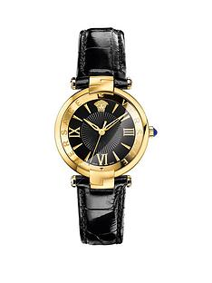 versace-versace-reve-black-enamel-dial-black-leather-strap-ladies-watch