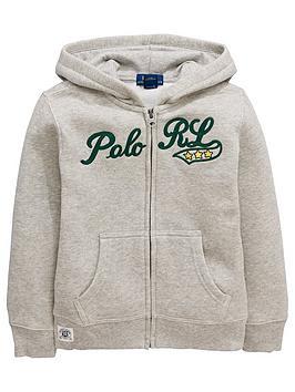 Ralph Lauren Boys Zip Through Polo Hoodie