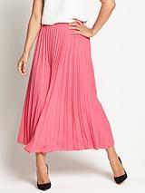 SunrayPleated Midi Skirt