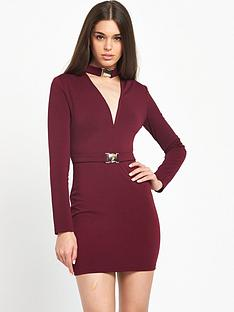 rare-choker-mini-dress-wine