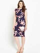 Capped Sleeve Midi Dress