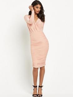 ax-paris-ruched-midi-dress