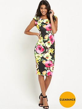 ax-paris-floral-cap-sleeve-midi-dress
