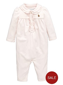 ralph-lauren-baby-girls-frill-polo-romp-suit