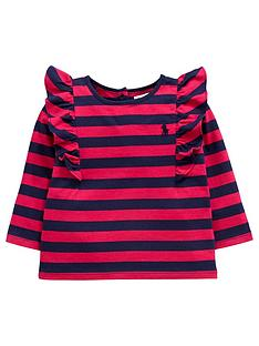 ralph-lauren-frill-sleeve-stripe-top