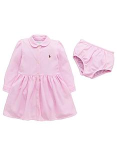 ralph-lauren-girls-long-sleeve-polo-dress-and-briefs-set