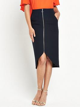 v-by-very-zip-front-midi-skirt