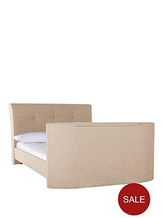 harrogate-fabric-double-tv-bed-frame-with-money-options-buy-and-save