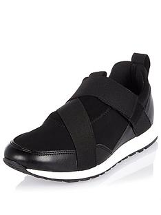 river-island-slip-on-elastic-runner-trainer