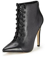 Gracie Leather Victorian Boot - Black