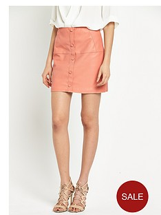 river-island-punbspbutton-through-skirt-pinknbsp