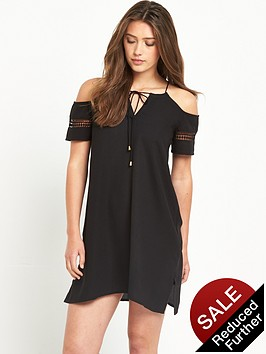 river-island-cold-shoulder-embroidered-swing-dress