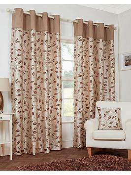leaf-trail-flock-lined-eyelet-curtains