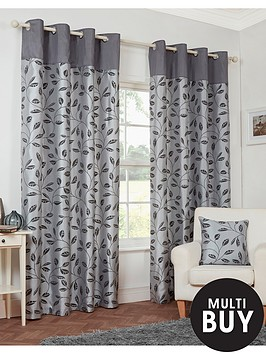 leaf-trail-flock-eyelet-curtains