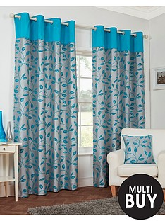 leaf-trail-flock-eyelet-curtains