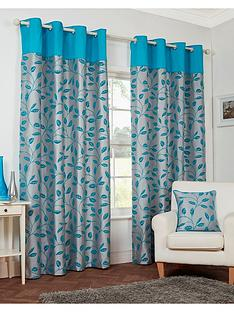 leaf-trail-flock-lined-eyelet-curtains