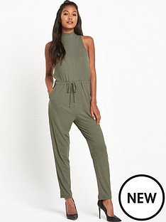 river-island-river-island-jersey-high-neck-jumpsuit