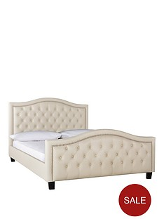 manhattan-faux-leather-double-bed-with-optional-mattress