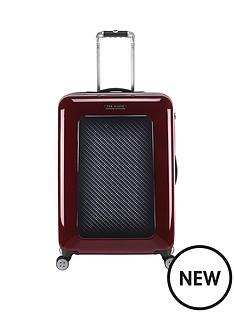 ted-baker-herringbone-burgundy-4-wheel-hard-medium-case