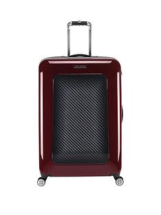 ted-baker-herringbone-burgundy-4-wheel-hard-large-case