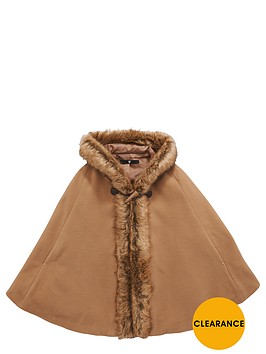 v-by-very-girls-faux-fur-trim-cape