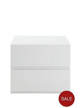 solar-high-gloss-2-drawer-bedside-chest