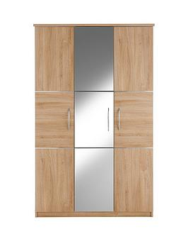 buckingham-3-door-mirrored-wardrobe