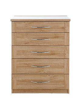 buckingham-5-drawer-glass-top-chest