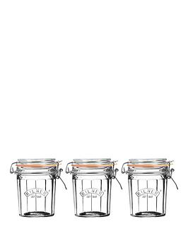kilner-facet-jars-025-litre-set-of-3
