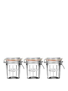 kilner-facet-jars-045-litre-set-of-3