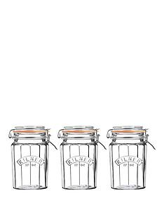 kilner-facet-jars-095-litre-set-of-3