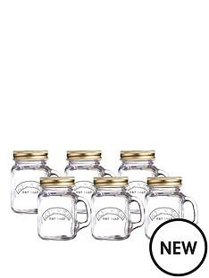 kilner-kilner-mini-handled-jars-set-of-6-140ml