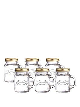 kilner-set-of-6-mini-handled-jars-ndash-140ml-capacity