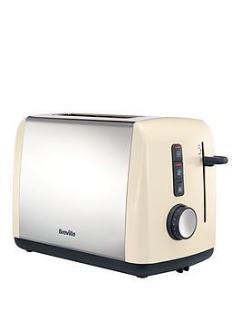 Breville Colour Collection 2Slice Toaster Vtt758  Cream