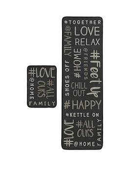Hashtag Home Runner &Amp Doormat Set