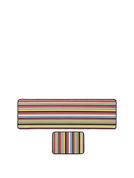 Bright Stripe Runner &Amp Doormat Set