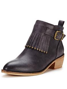 glamorous-fringed-buckle-ankle-boot