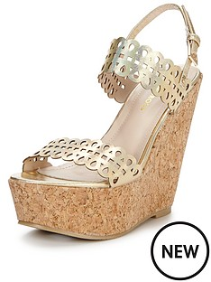 glamorous-laser-cut-metallic-wedge-sandal-gold