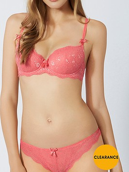boux-avenue-chloe-lace-thong-coral