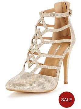 glamorous-caged-gold-heeled-sandal