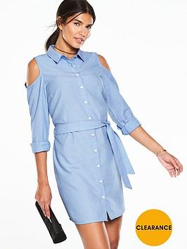 v-by-very-cold-shoulder-shirt-dress