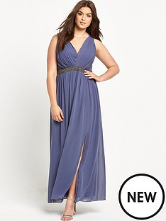 little-mistress-curve-curve-embellished-v-neck-maxi-dress-grey