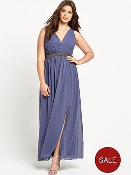 little-mistress-curve-curve-embellished-v-neck-maxi-dress-grey