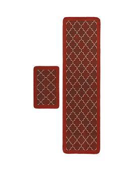 spanish-tile-runner-and-doormat-set