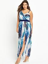 Curve Printed Maxi Dress