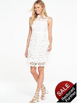 v-by-very-geo-lace-collared-dress