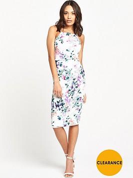 v-by-very-strappynbspfloral-printnbspbodycon-dress