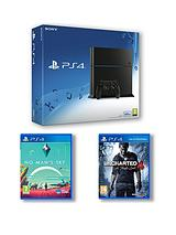 500GB Black Console with No Man's Sky and Uncharted 4 A Thief's End